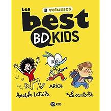 Les Best BD Kids : Coffret en 3 volumes : Ariol, Tome 1, Un petit âne comme vous et moi ; Anatole Latuile, Tome 1, C'est parti ! ; La cantoche, Tome 2, Les goûts et les couleurs
