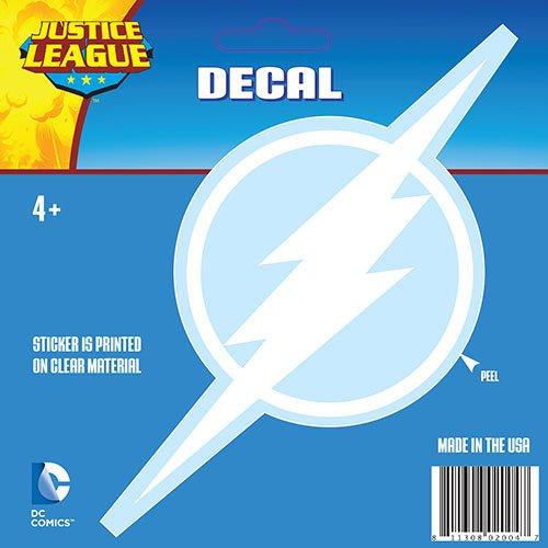 DC Comics The Flash White Logo Window Decal Aufkleber