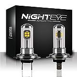 NIGHTEYE 2x Nebelscheinwerfer A334 LED Fit H7 80W 6000K 1500LM