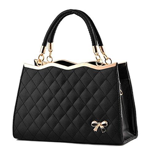 Frauen Messenger Bags Damen Tote Kleine Umhängetasche Frau Leder Handtasche Umhängetasche Mit Schal Schloss Designer s Black Maximum length 30 -
