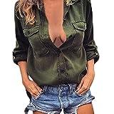 fa50e3919 ▷ Camisa Verde Militar Mujer | El Mejor Producto De 2019 ...