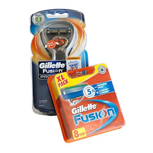 Gillette »Fusion ProGlide« Rasierer mit Flexball-Technologie +Plus+ 8 Gillette Fusion Rasierklingen XXL Starter Set - OVP