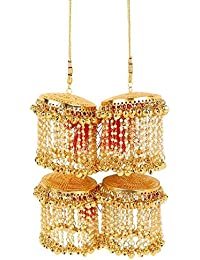 Much More Designer Gold Tone Bridal Kalira/Kaleeray Wedding Wear Indian Traditional Jewellery For Women's