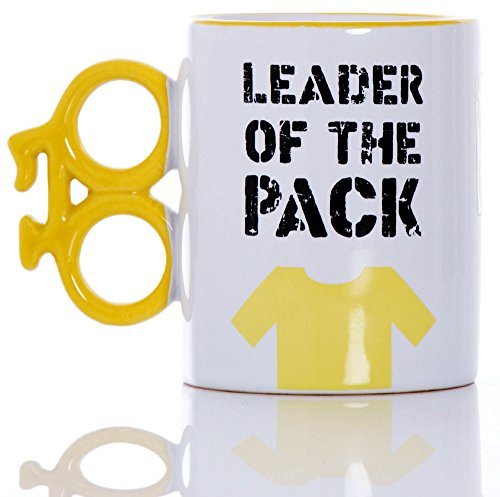 "Boxer ""Leader of The Pack"" Fahrrad-Kaffeebecher, Keramik, Gelb"