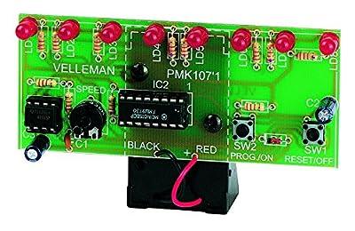 Velleman MK107 LED Running Light Mini Kit, multicolored