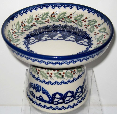 polish-pottery-raised-cat-small-dog-stoneware-wet-canned-fresh-food-dish-bowl-signature-zo-christmas