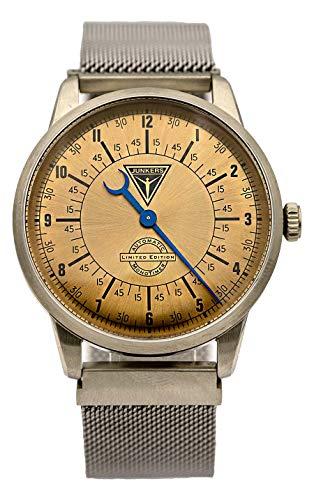 Junkers 6362-3 - Reloj de Pulsera automático para Hombre, diseño de Mono milanés, Color Plateado