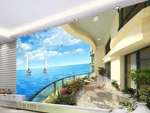 Fototapete Resort Balkon 3D TV Sofa Hintergrund Wand Wohnkultur Benutzerdefinierte Beliebige Größe - Wallpaper Horror Kostenlose