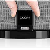 ZIOCOM Upgraded 30 Pin Bluetooth Adapter Receiver for iPhone iPod Bose SoundDock and other 30 pin Dock Speakers with 3…