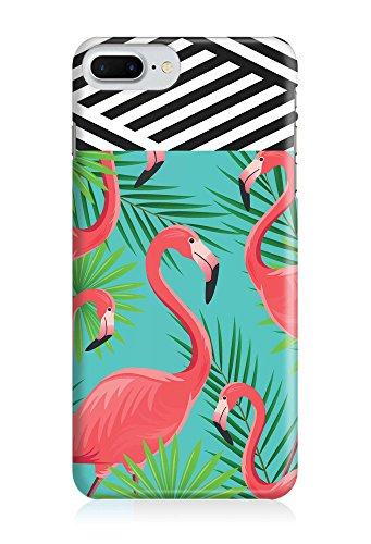 COVER Flamingo Palmen Streifen schwarz weiss Design Handy Hülle Case 3D-Druck Top-Qualität kratzfest Apple iPhone 6 Plus