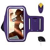 urvoix Galaxy Note5/Note4/S7Edge/S6Edge Plus/S8Plus Armband, Sport Laufen Joggen Gym Arm Band mit Schlüssel Halterung für Samsung J7/A8/S8Plus