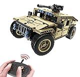 Modbrix Bausteine 2,4 Ghz RC Auto Humvee Panzer-Fahrzeug Ferngesteuert, Konstruktionsspielzeug mit 502 Bauteilen, kompatibel mit L*go Technik