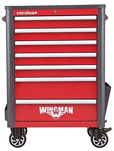 CAROLUS Werkstattwagen Wingman, 7 Schubladen, rot/anthrazit, 1 Stück, 2057.10