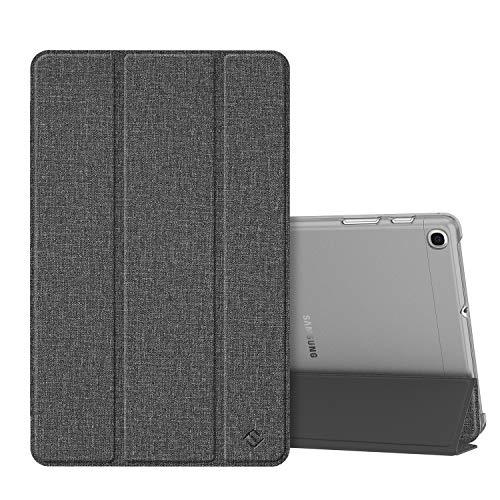 Fintie Hülle kompatibel mit Samsung Galaxy Tab A 10,1 SM-T510/T515 2019 - Ultradünn Schutzhülle mit transparenter Rückseite Abdeckung Cover für Samsung Tab A 10.1 2019 Tablet, Jeansoptik dunkelgrau