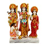 SUNNY CORPS RAMDARBAR Marble Finish Statue Idol Showpiece For Home LxHxW(cm) = 14x19.5x7.5