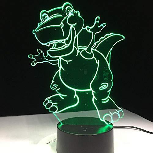 Cartoon Dinosaurier 3D Licht Atmosphäre Nachtlicht 7 Farbwechsel Visuelle Tabelle Schlafzimmer Baby Spielzeug Geschenk Tisch Home Office Dekoration, Geburtstag, Geschenk, Geschenk