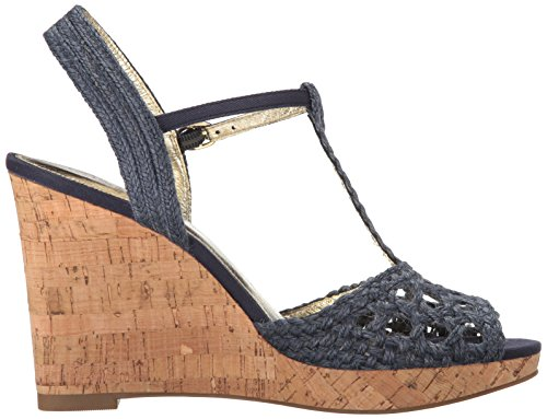 Adrianna Papell Franklin Damen Textile Keilabsätze Sandale Navy
