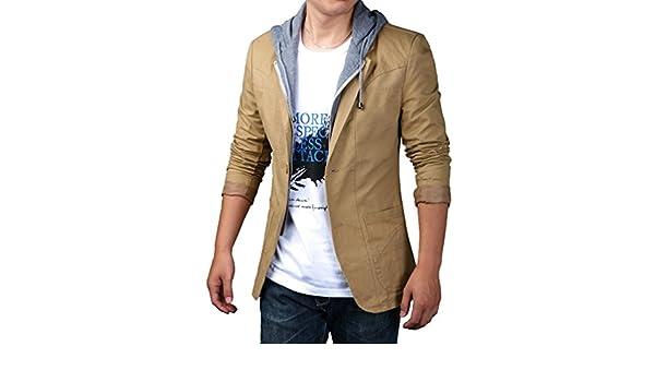 YiLianDa Herren Sportliche Sakko Jacket Slim Fit Blazer Anzugjacke Business  Übergröße Anzug Kurzmantel  Amazon.de  Bekleidung 2a86212513
