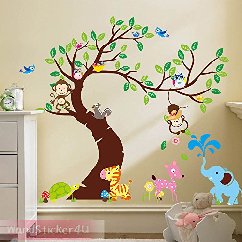wall-sticker4u-curved-large-monkey-tree-255x145-cm-monkey-bambi-tortoise-butterfly-bird-flower-jungl