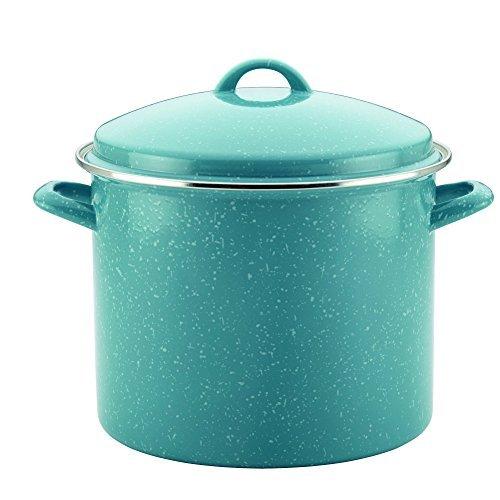 paula-deen-enamel-on-steel-covered-stockpot-12-quart-gulf-blue-speckle-by-paula-deen
