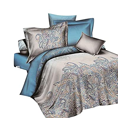 Duvet Cover Sets,Clode® 4 Pcs Hot Sale Bed Linen Home Textile Bedding Set Duvet Cover Bed Sheet Pillowcases produced by Clode-bedding set-T03 - quick delivery from UK.