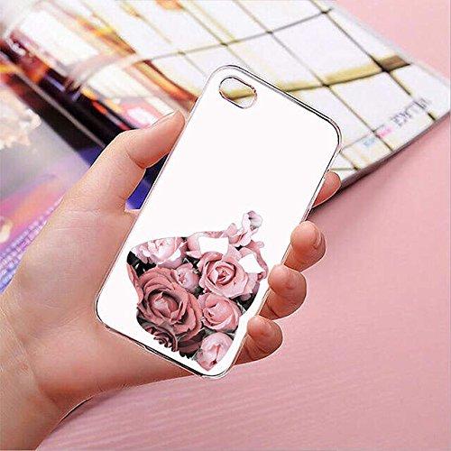 finoo | Iphone 5/5S Hard Case Handy-Hülle Blumen Motiv | dünne stoßfeste Schutz-Cover Tasche mit lizensiertem Muster | Premium Case für Dein Smartphone| Blumen Anker Blumen Princess 02
