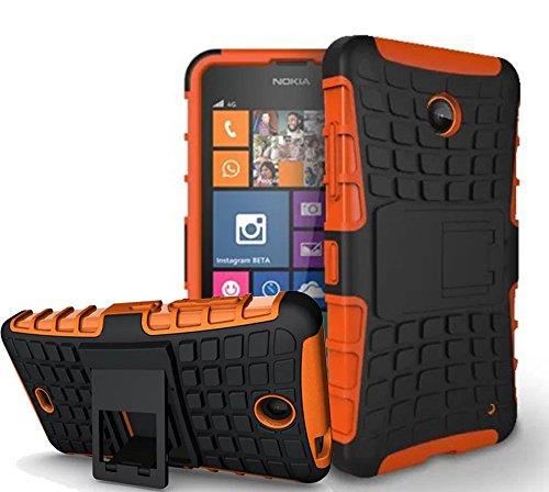 Microsoft Lumia 640 /Nokia Lumia 640 Hülle, Nnopbeclik Hybrid 2in1 TPU+PC Schutzhülle Cover Case Silikon Rüstung Armor Dual Layer Muster Handytasche Backcover 360-Grad-Drehung ständer stoßfest Handy Hülle Tasche Schutz Etui Schale Bumper Pour Microsoft Lumia 640 /Nokia Lumia 640 5.0 Zoll[Schwarz+Rot]