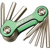 Acor Mini Allen Key / Screwdriver Set: Green