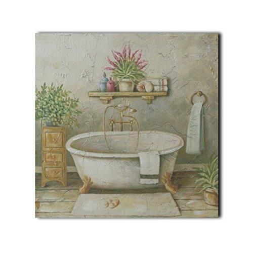 CVHOMEDECO. Imágenes de baño pintadas a mano en marco de madera, pintura...
