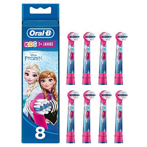 Oral-B Kids Frozen Aufsteckbürsten, Briefkastenfähige Verpackung, 8 Stück