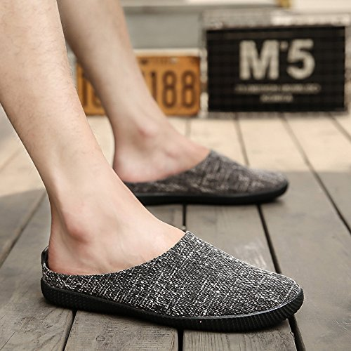 Des hommes d'été , Chaussons, men's casual hommes sandales, chaussures, paresseux Baotou outdoor cool mop, la moitié des chaussons 677- black