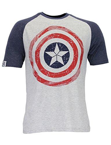 Marvel Avengers Herren Captain America T-Shirt (Captain America Superheld)