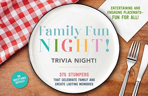 Trivia Kochen Game (Family Fun Night Trivia Night Placemats)