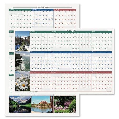 House of Doolittle Earthscapes Scenic laminiert eintragen/WEGWISCHEN Planrecord, Januar 2014bis Dezember 2014, 81,3x 121,9cm, Nature Foto, recyceltem (hod3931) (Foto-adressbuch)