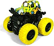 Numeo Pull Back Cars, Friction Powered Toy Cars, Monster Truck Toys, for Boys - Push and Go Car Vehicles Truck