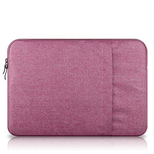 Leinwand Laptop Tasche Sleeve Hülle Case Schutz Tasche für MacBook Air/MacBook Pro/Pro Retina notebook tasche 11 - 15 zoll (13,3 Zoll Pink [B])