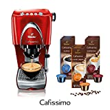 Tchibo Cafissimo Classic Kaffeemaschine (Hot Red, inkl. 90 Kapseln)
