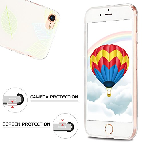 Coque iPhone 7 , Etui iPhone 7 , CaseLover Etui Coque TPU Slim pour iPhone 7 (4.7 pouces) Mode Flexible Souple Soft Case Couverture Housse Protection Anti rayures Mince Transparent Silicone Cover avec Feuille
