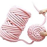ANLW Strick-Kuscheldecke Dick Gewinde Decke Warm Winter Sofa Bezug Kuscheldecke Handgefertigt Chunky Gestrickte Wolldecke Überwurf Decken Yoga Matte Teppich,Pink,120 * 150