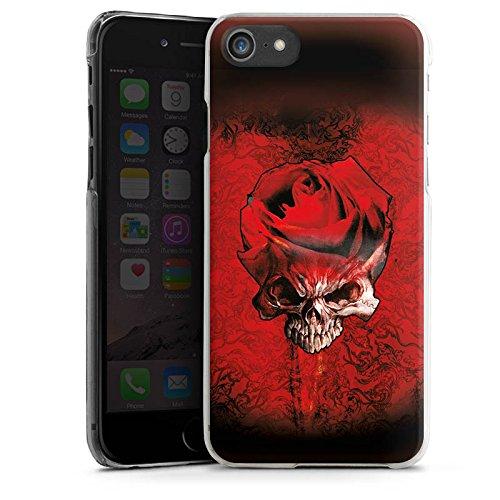 Apple iPhone X Silikon Hülle Case Schutzhülle Rose Blut Dornen Hard Case transparent