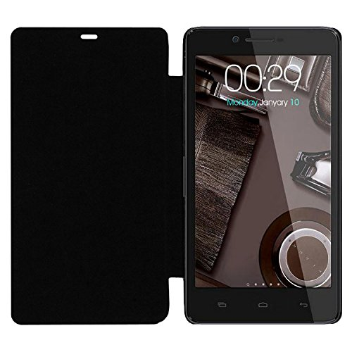 Acm Leather Diary Folio Flip Flap Case For Micromax A102 Canvas Doodle 3 Mobile Front & Back Cover Black  available at amazon for Rs.179