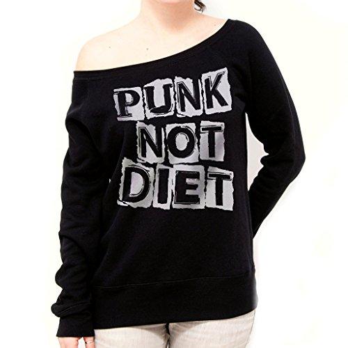 Felpa Fashion PUNK NOT DIET - MUSIC by Mush Dress Your Style - Donna-M-Nera