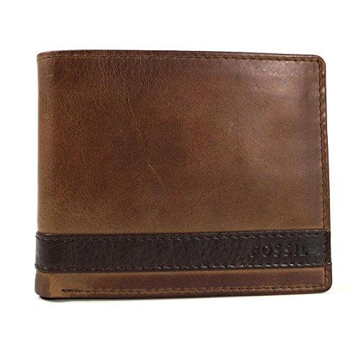 Fossil Herren Quinn Geldbörse, Braun (Brown), 2.5x9.5x11.4 cm -