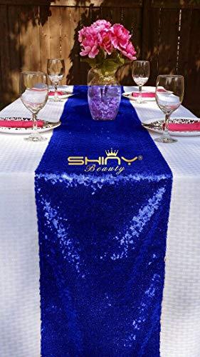 Pingrog Blau Tischläufer 35,6 X 274,3 cm Blau Tischläufer Großhandel Unikat Von Pailletten Leinen 35,6 X 274,3 cm Blush 14X108In (Color : Royal Blau, Size : Size)