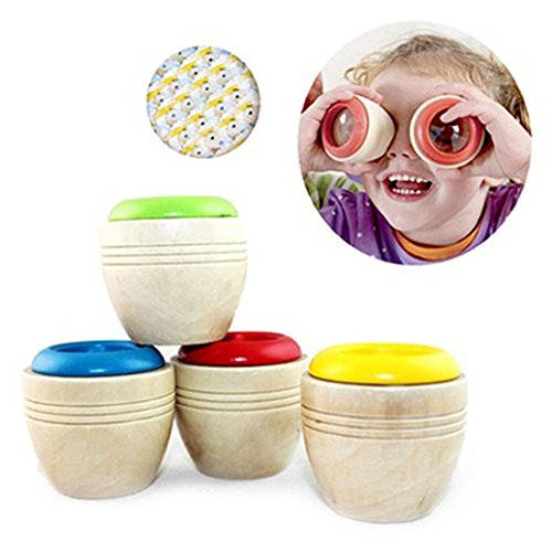 timeracing Creative Baby Children Learning Puzzle Sensory Toy Wooden Educational Kaleidoscope