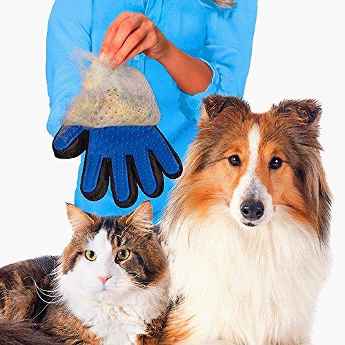 Modenny Pet Haar Handschuh Hund Bürste Kamm Für Hundesalon Hund Handschuh Reinigung Massage Versorgung Für Tier Finger Reinigung Katze Haar Handschuh - Haare Finger