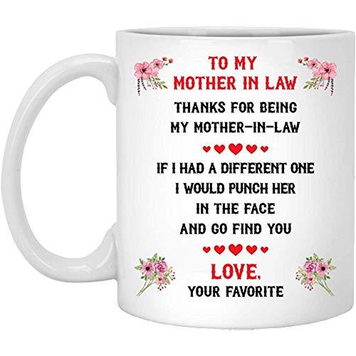 Loveout to My Mother in Law Punch in Face Mug Gracias por ser mi suegra Regalo divertido de hijo hija...