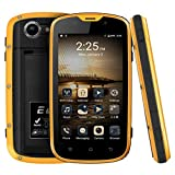 Sixcup Smartphone Touchscreen da 4 Pollici W5 PROOFINGS per KENXINDA,Dual SIM Dual Standby,IP68 Impermeabile, MTK6735, Quad Core,1G / 8G, Android 5.1, Giallo