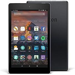 """Tablette Fire HD 8, écran HD 8"""" (20,3cm), 32Go (Noir) - avec offres spéciales (7ème Génération - Modèle 2017)"""