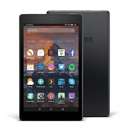 """Tablette Fire HD 8, écran HD 8"""" (20,3cm), 16Go (Noir) - avec offres spéciales (7ème Génération - Modèle 2017)"""